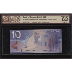 Bank of Canada $10, 2005 - Replacement Note