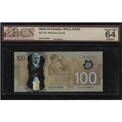 Bank of Canada $100, 2011