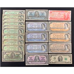 Canada Banknote Lot of 19 Notes plus Bonus