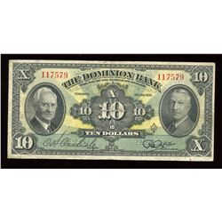 Dominion Bank $10, 1938
