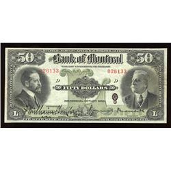 Bank of Montreal $50, 1914