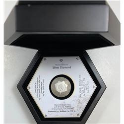 NIUE 2016 SILVER DIAMOND 3D SHAPE ANTIQUE FINISH $2 SILVER COIN