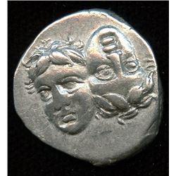 MOESIA, Istros. 400-350 BC. AR Drachm