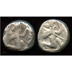 PERSIA, Achaemenid Empire. 485-330 BC. AR Siglos Group. Lot of 2