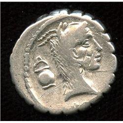 Roman Republic - L. Roscius Fabatus. 59 BC. AR Serrate Denarius
