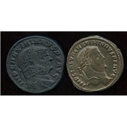 Roman Imperial - Tetrachy (293-313 AD) Group. AE Follis. Lot of 2