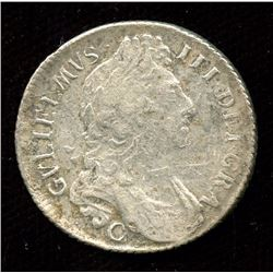 1696c (Chester Mint), William III Shilling