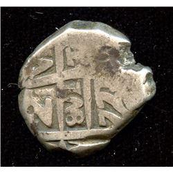 Attributed 2 Reales cob, 1771, Bolivia (Charles III), Potosi Mint (P). Sedwick P59