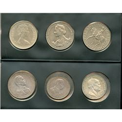 World Coin Collection of 6 Coins