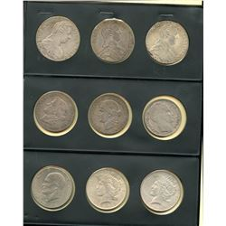 World Coin Collection of 9 Coins