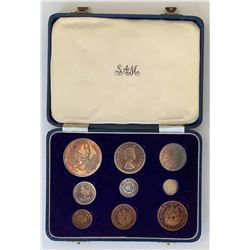 1956 South Africa Proof Set in Blue Case