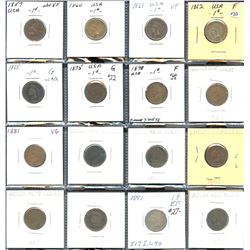 USA 1c short set: 1857 Flying Eagle to 1899 Indian Head