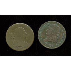 Lot of two USA half-cents