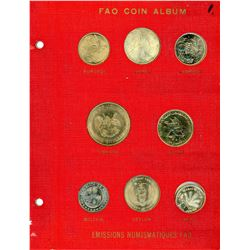 1964-1971 Complete RED FAO World Album with Silver/Proof Coins As Issued