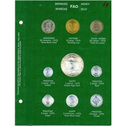 1974 Complete GREEN FAO Coin World Album As Issued Food & Agriculture