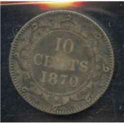 1870 Newfoundland Ten Cents