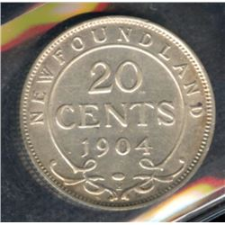 1904H Newfoundland Twenty Cents