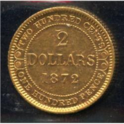 1872 Newfoundland $2 Gold