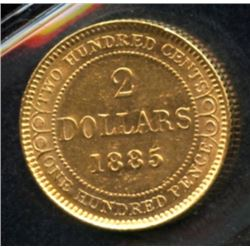 1885 Newfoundland $2 Gold