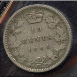 1864 New Brunswick Ten Cents