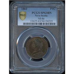 1861 Nova Scotia One Cent - Specimen