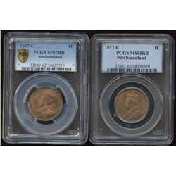 1917c Newfoundland & Canada One Cent Type Set