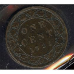 1891 One Cent - LL SD; Obverse 2