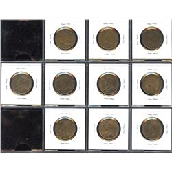 Edward VII and George V Large Cents - Lot of 10