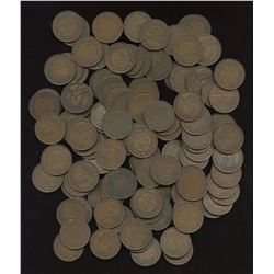 George V Large Cents - Lot of 125