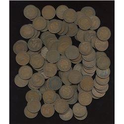 George V Large Cents - Lot of 125