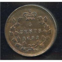 1892 Five Cents