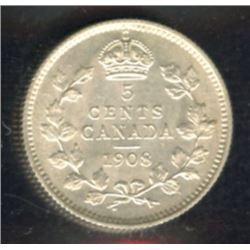 1908 Five Cents - Large 8