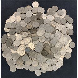 Bulk lot of George V 5c 1922-1936 circulated, 500 coins