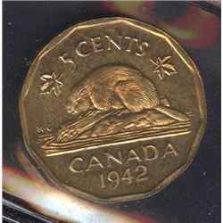 1942 Five Cents - Specimen