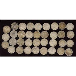 Lot of 35 Edward VII 10c