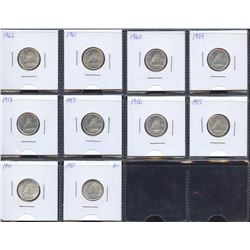 Estate Lot of 10 Canadian Ten Cents