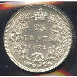 1872H Twenty-Five Cents - 7/7 Variety