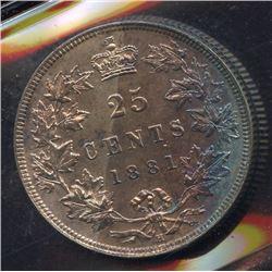 1881H Twenty-Five Cents