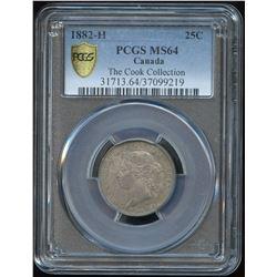 1882H Twenty-Five Cents - Ex: Cook Collection