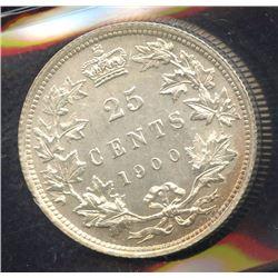 1900 Twenty-Five Cents - 1/1 Variety