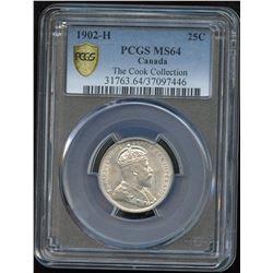 1902H Twenty-Five Cents - Ex: Cook Collection