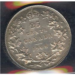 1908 Twenty-Five Cents