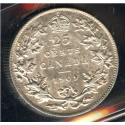 1909 Twenty-Five Cents