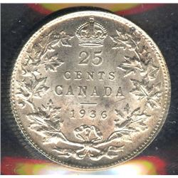 1936 Twenty-Five Cents - Bar