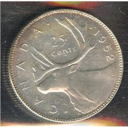 1952 Twenty-Five Cents - Low Relief