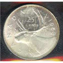 1953 Twenty-Five Cents - Large Date