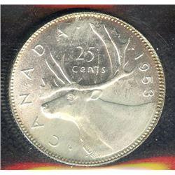 1953 Twenty-Five Cents - Large Date