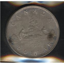 1952 Silver Dollar - Waterlines