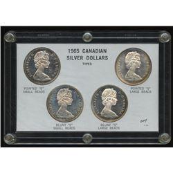 Canada: Elizabeth II types of 1965 Dollars set