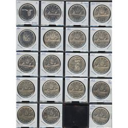 Estate Lot of 19 Canadian Silver Dollars